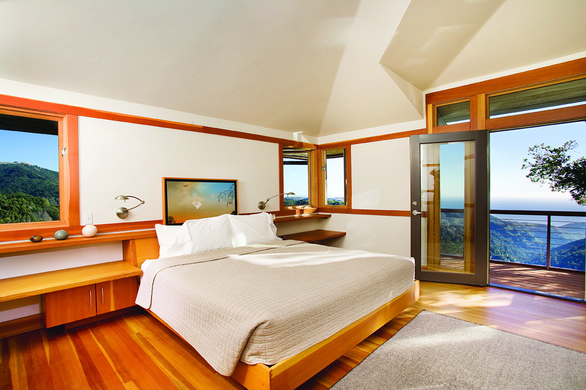 Custom Home Big Sur Bedroom