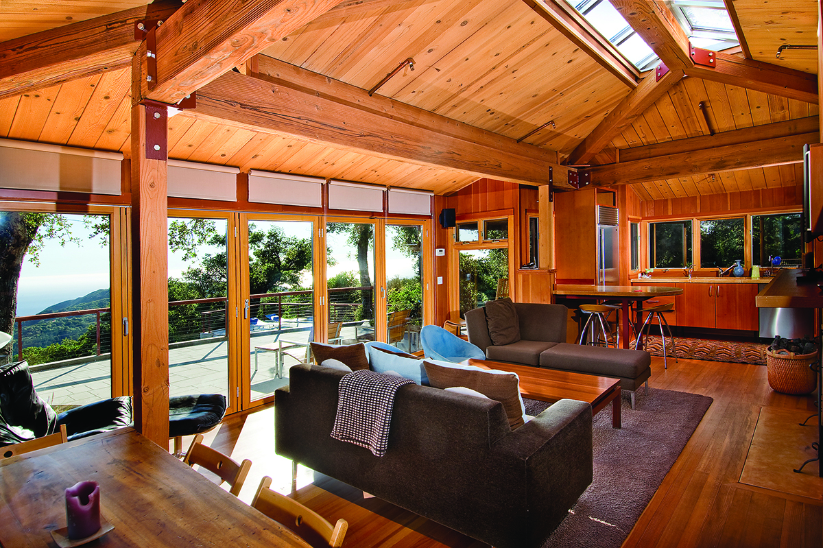 Custom Home Big Sur Living Room