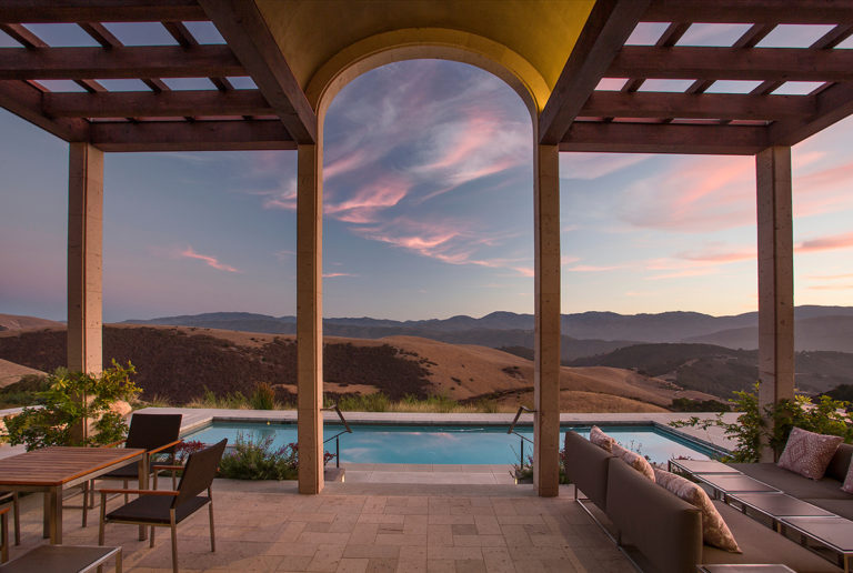 Custom Home Carmel Valley Pergola Pool